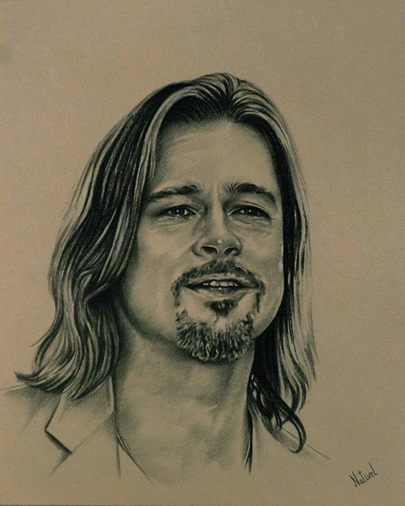 Brad Pitt by AurelieNativel